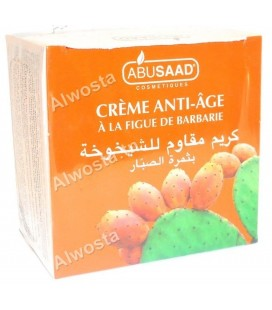 Anti-aging cream with prickly pear