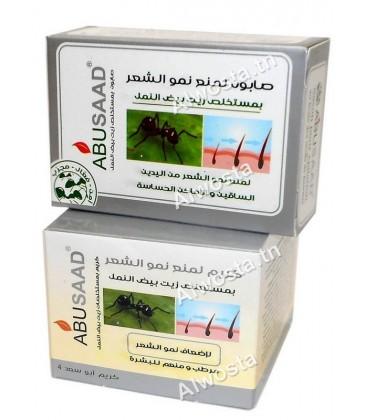 كريم و صابون بيض النمل لمنع نمو الشعر