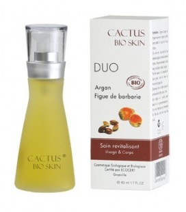 Duo of argan oil and prickly pear oil